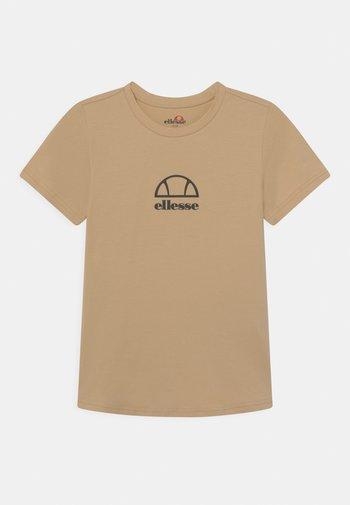 MARYAM UNISEX - Print T-shirt - light brown