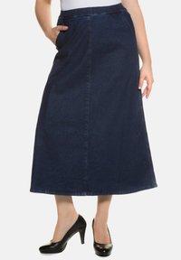 Ulla Popken - A-line skirt - darkblue - 0