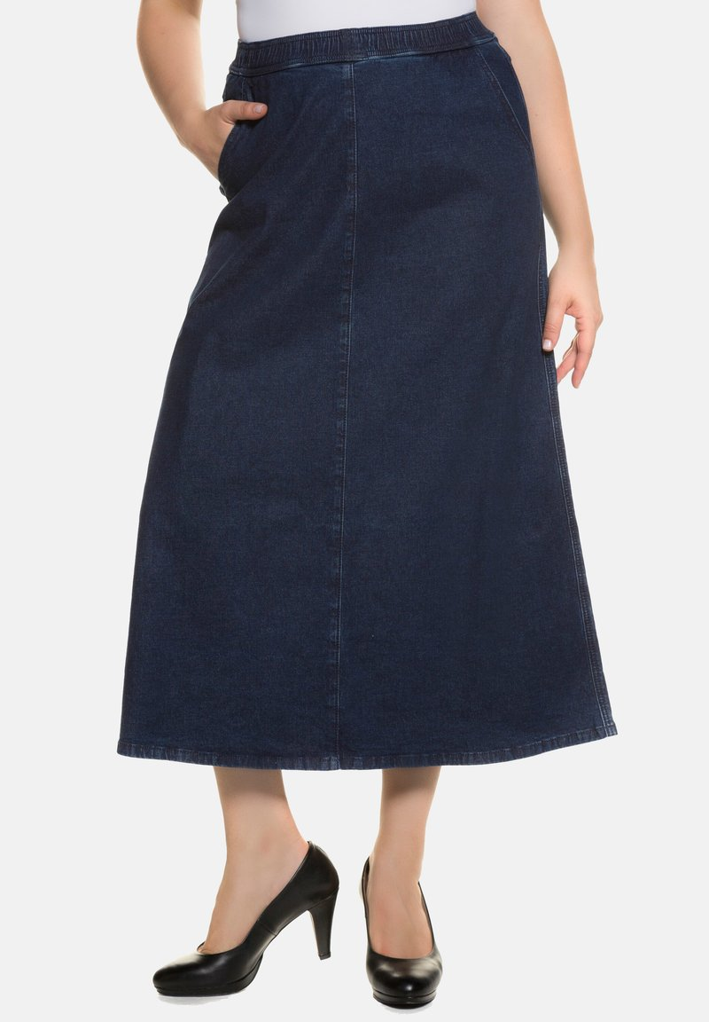 Ulla Popken - A-line skirt - darkblue