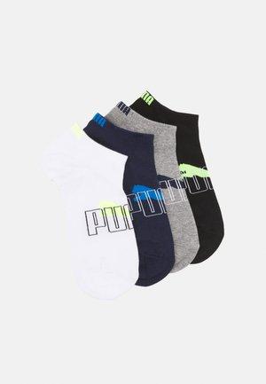 MEN OUTLINE LOGO SNEAKER 4 PACK - Trainer socks - black/white/blue combo