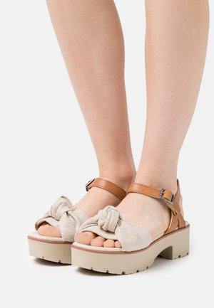 CURIE - Platform sandals - natural