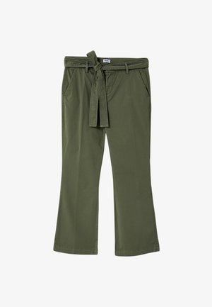WITH BELT - Trousers - green