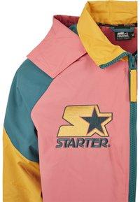 Starter - MULTICOLORED LOGO - Summer jacket - green/yellow/pink - 8