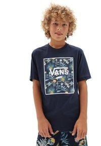 Vans - BY PRINT BOX  - Print T-shirt - dress blues/califas - 0