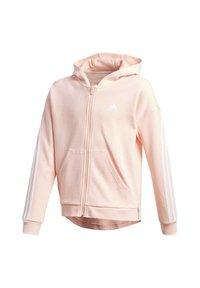 adidas Performance - 3-STRIPES FULL-ZIP HOODIE - Zip-up hoodie - pink - 0