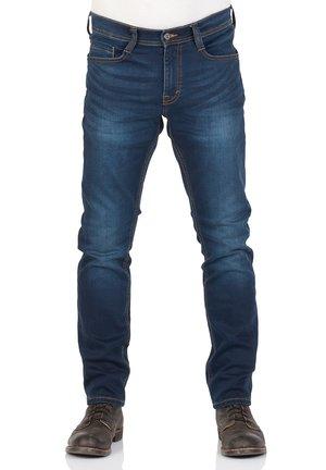 REAL X OREGON - Slim fit jeans - blue denim