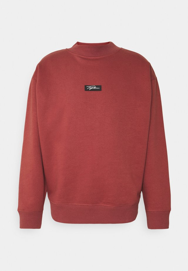HIGHNECK BADGE - Sweatshirt - burgundy