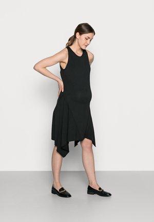 DESIREE DRESS - Žerzejové šaty - black