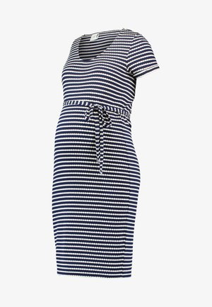 Jersey dress - peacoat/snow white