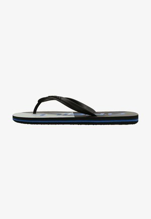 GRAPHIC - T-bar sandals - grey with blue