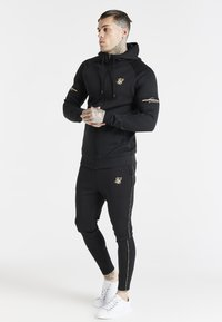 SIKSILK - EXPOSED TAPE ZIP THROUGH  - Zip-up sweatshirt - black - 1