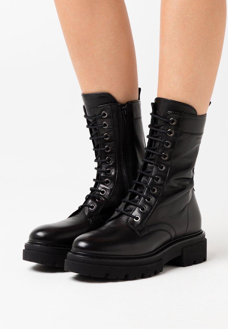 Marc O'Polo - UNDER  - Platform boots - black