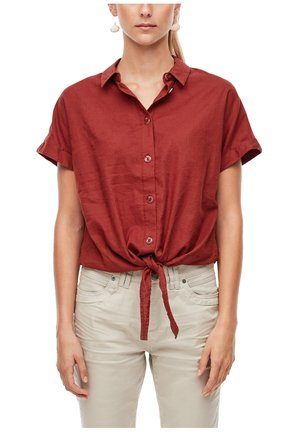 Button-down blouse - rust red
