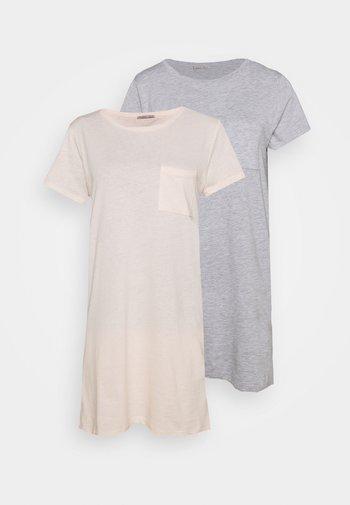 2 PACK - Nightie - pink/grey