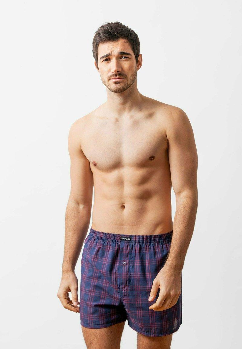 SNOCKS - WOVEN - 3 PACK - Boxer shorts - big check