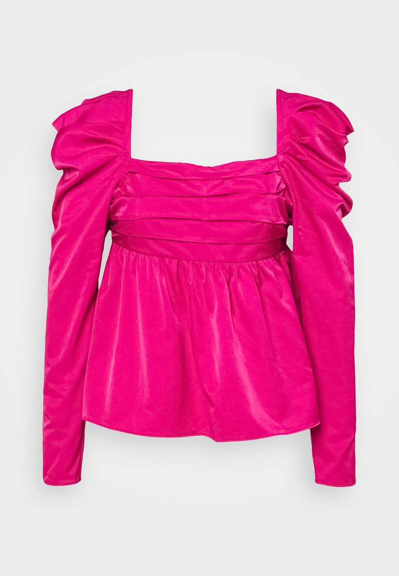 Who What Wear - EMPIRE RUCHED - Blus - magenta