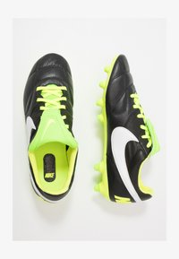 PREMIER II FG - Moulded stud football boots - black/white/volt/electric green