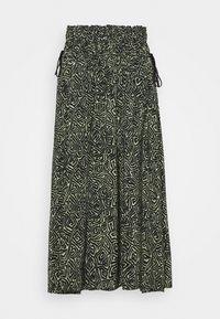Proenza Schouler White Label - PRINTED TIE WAIST SKIRT - A-line skirt - black/spanish moss - 4