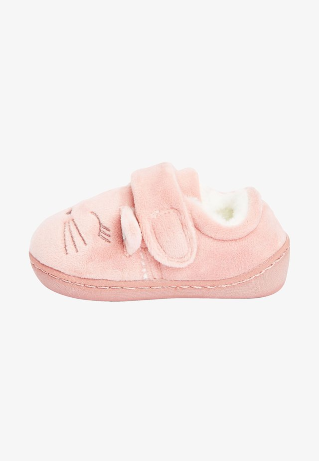 First shoes - mottled light pink