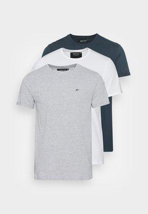 SNYDER - Jednoduché triko - navy/ white/ grey
