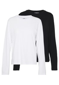 Weekday - ALANIS 2 PACK - Langærmede T-shirts - black/white - 0