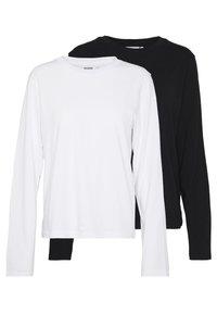 ALANIS 2 PACK - Maglietta a manica lunga - black/white