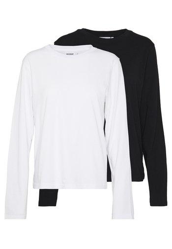 ALANIS 2 PACK - Topper langermet - black/white