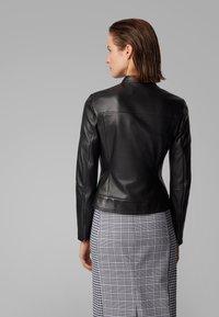 BOSS - SAFLAMA - Leather jacket - black - 3