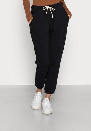 SWEATPANTS STRAIGHT LEG ELASTIC  - Pantaloni sportivi - black