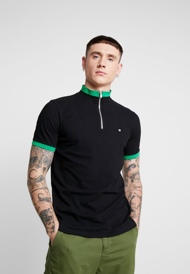 HALF ZIP - T-shirts print - black