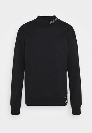 HIGH COLLAR - Sweater - black