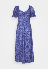 Lost Ink Petite - RUCHED BUST DETAIL DITSY MIDI DRESS - Jerseykjoler - blue - 0