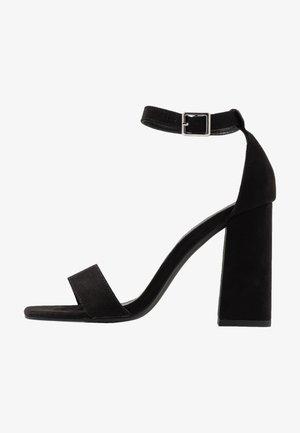 STEFFI - High heeled sandals - black