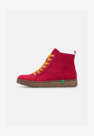VEGAN - Ankle boots - red/saffron