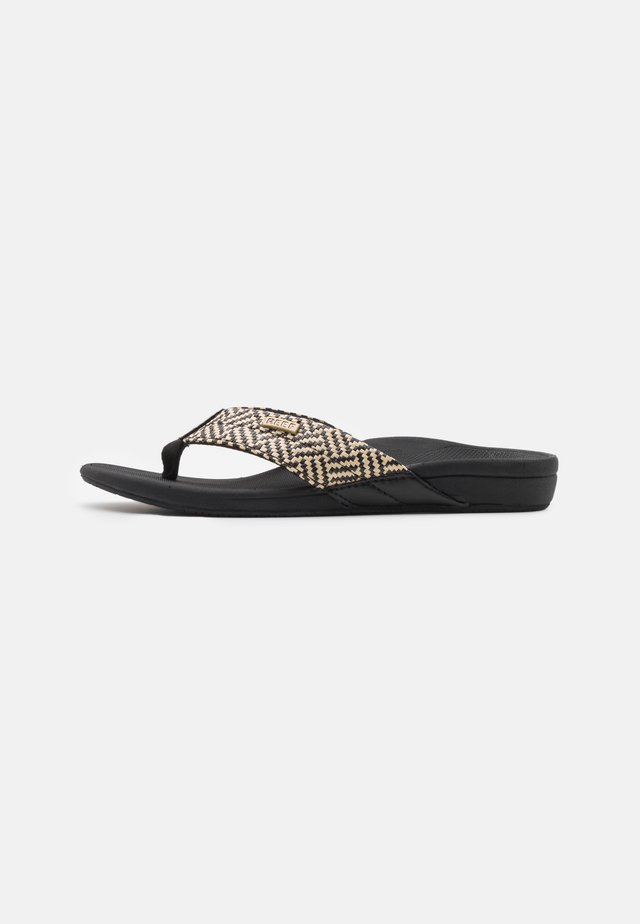ORTHO SPRING - Flip Flops - black/vintage