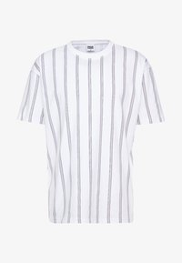 Urban Classics - HEAVY OVERSIZED STRIPE TEE - Print T-shirt - white/navy - 3