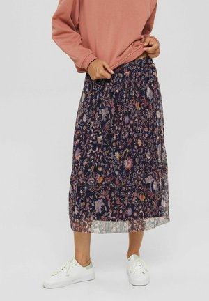 SKIRT PLISEE - A-line skirt - navy
