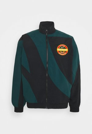 VINTAGE TRACKTOP - Veste de survêtement - black/forest green
