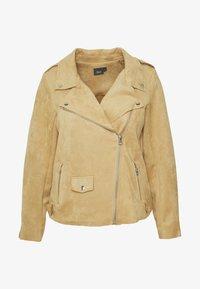 ESUS JACKET - Faux leather jacket - beige