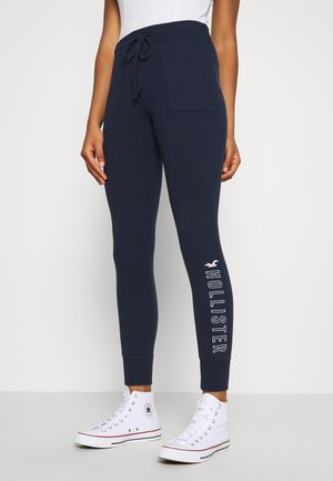 LOGO FLEGGING - Tracksuit bottoms - navy