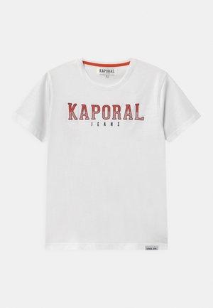 BASIC LOGO - Print T-shirt - white
