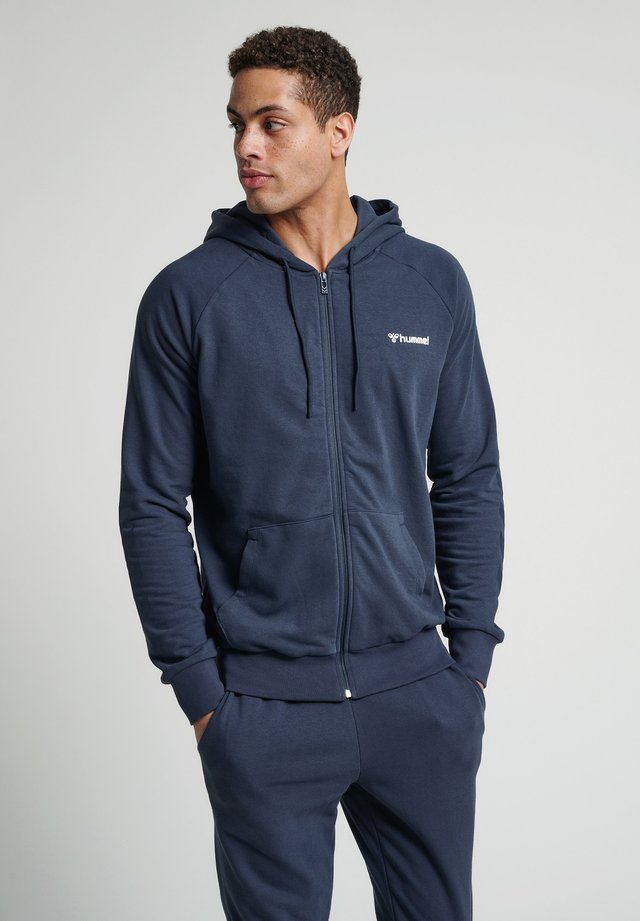 HMLISAM  - Zip-up hoodie - blue nights