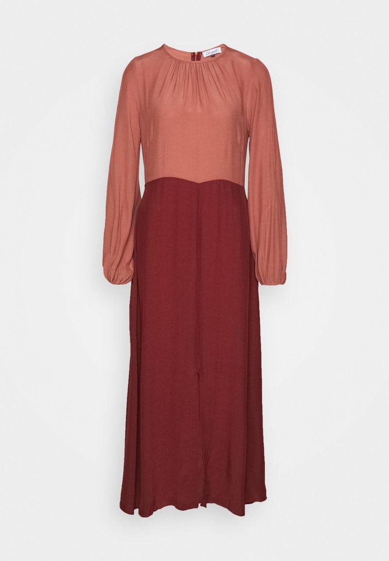 Closet - GATHERED NECK A LINE DRESS - Day dress - brick
