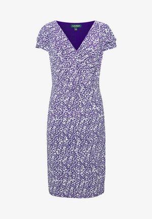 PRINTED MATTE DRESS - Jersey dress - cannes blue