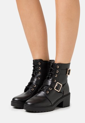 MARLEY BLOCK HEEL CLEAT BOOT  - Kotníkové boty na platformě - black