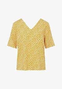 Object - MIT KURZEN ÄRMELN PRINT - T-shirt print - yellow - 4