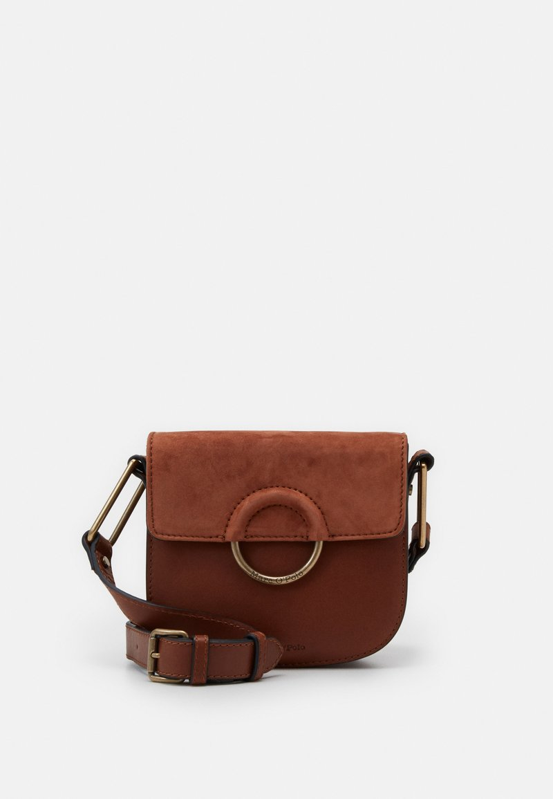 Marc O'Polo - CROSSBODY BAG - Across body bag - authentic cognac
