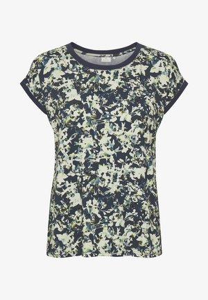 Print T-shirt - navy watercolor/flower print