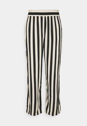 LIFE WIDE PANT  - Pantalones - tapioca/black