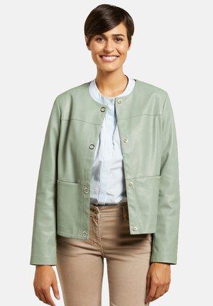 BOXY - Faux leather jacket - verde